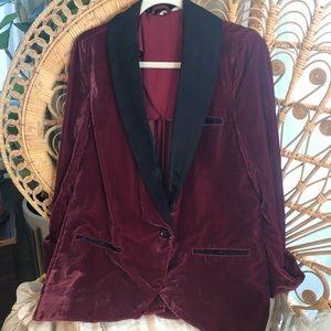 Free People velvet blazer, size XS